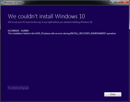 Как исправить ошибки 0xc1900101 в Windows 10