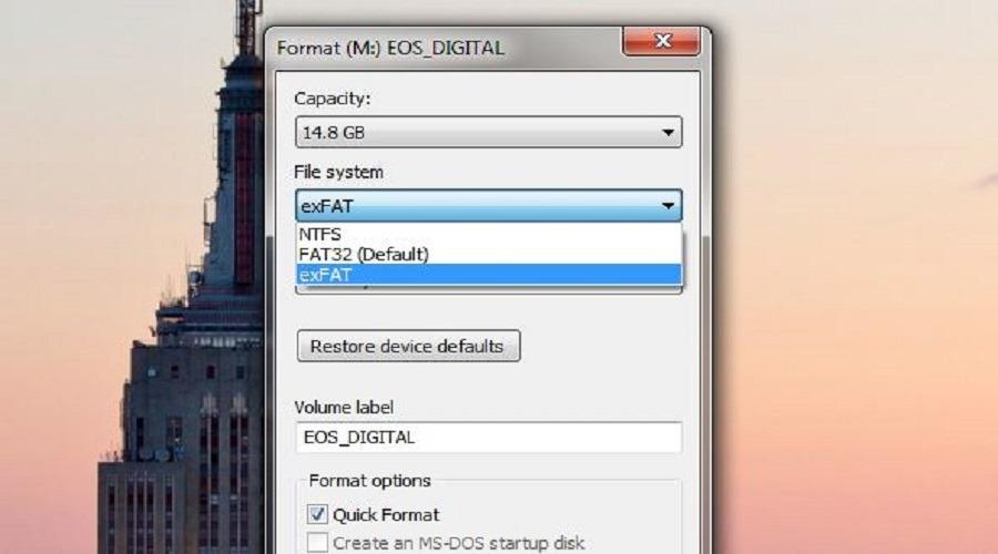 какой формат файлов лучше всего подходит для USB-накопителей