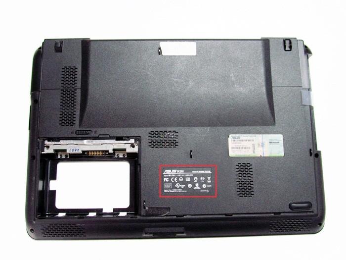 Узнаем название модели на ноутбуке Asus
