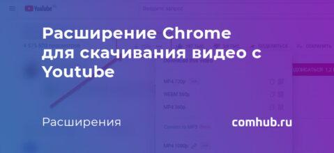 Как скачивать видео с YOUtube с помощью расширения для Chrome
